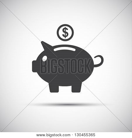 Moneybox piggy icon save money vector illustration