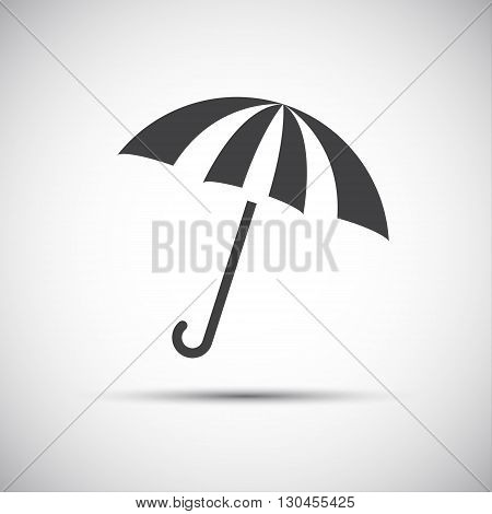 Simple umbrella icon rain protection vector illustration