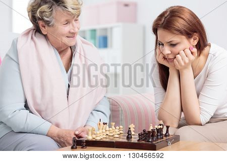 Check-mate! Grandma Wins!