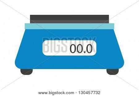 Kitchen scales vector illustration.