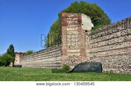 Scaliger Walls. One of the last surviving sections of the Vicenza medieval walls