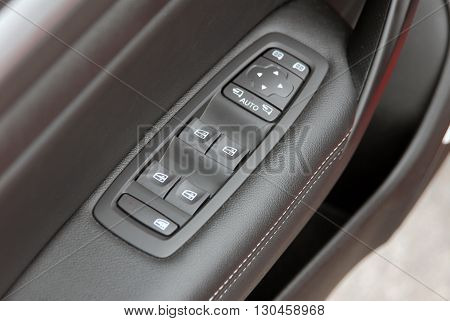 window button and side mirror switch control