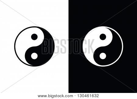 Yin yang symbol - design element