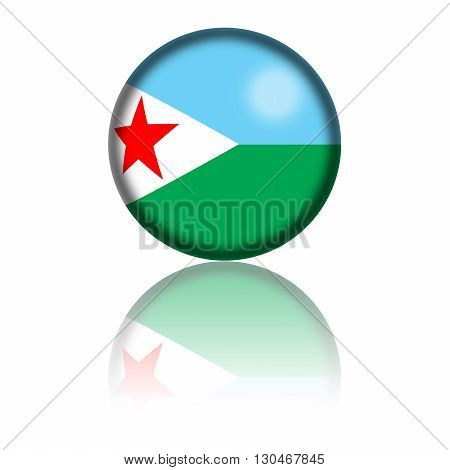 Djibouti Flag Sphere