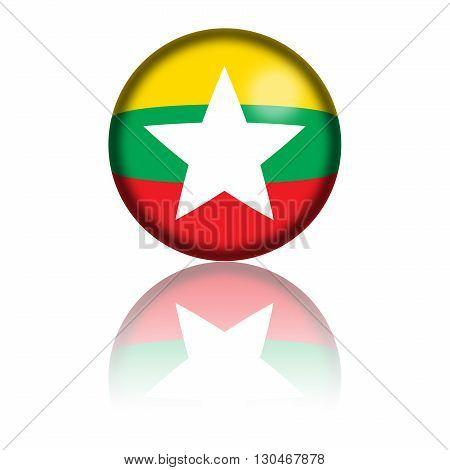 Myanmar Flag Sphere