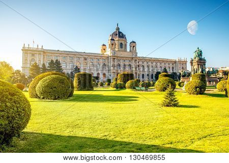 Museum of Art History on Maria Theresa Square in Vienna in the morning