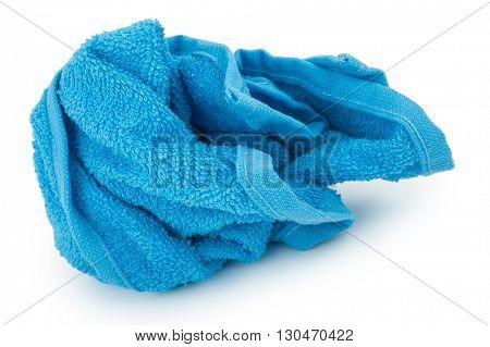 crumpled blue towel