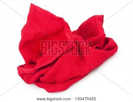 crumpled red towel