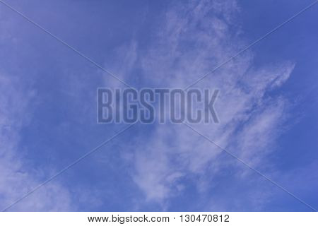 Blue sky with clouds , background and texture