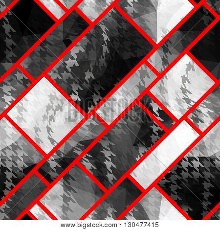 Seamless background pattern. Abstract strikes geometric pattern.