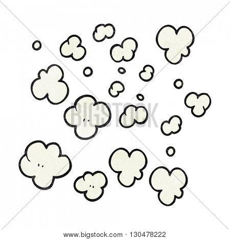 freehand textured cartoon puff of smoke symbol