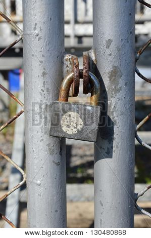 master key lock on the iron net door