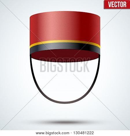 Bellboy Hat. Hotel resort service symbol. Vector Illustration isolated on a white background.