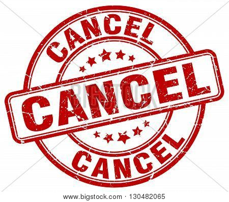 cancel red grunge round vintage rubber stamp