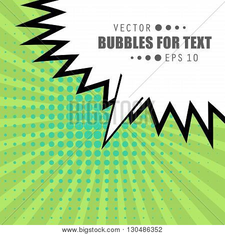 Abstract Creative concept vector comics pop art style blank layout template with clouds beams and isolated dots pattern on background. For Web and Mobile Applications, illustration template design.