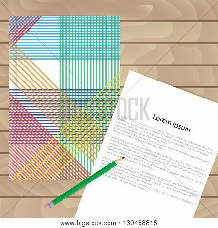 Vector Template For Brochures, Covers, Flyers Or Business Reports. The Pattern Of Colored Lines.