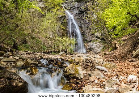 Sutovsky Waterfall In Spring Season - Slovakia, Europe