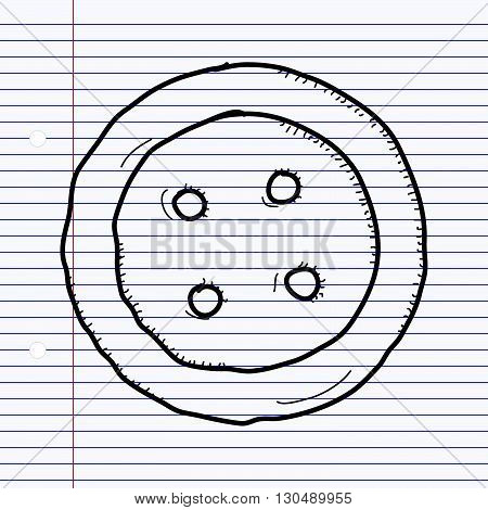 Simple Doodle Of A Button