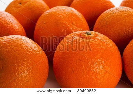 Extreme close-up image of oranges as background