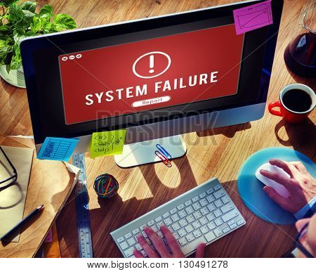 Failure Attacked Hacked Virus Ab End Concept