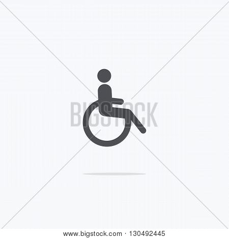 Disabled. Icon disabled. Vector illustration on light background ..