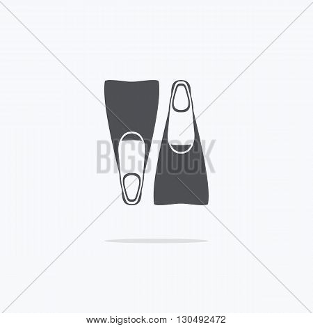 Flippers for navigation. Icon flippers for swimming. Vector illustration on light background ..