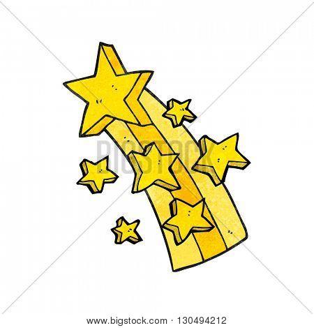 freehand textured cartoon shooting star