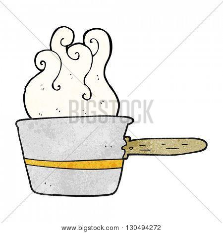 freehand textured cartoon saucepan cooking
