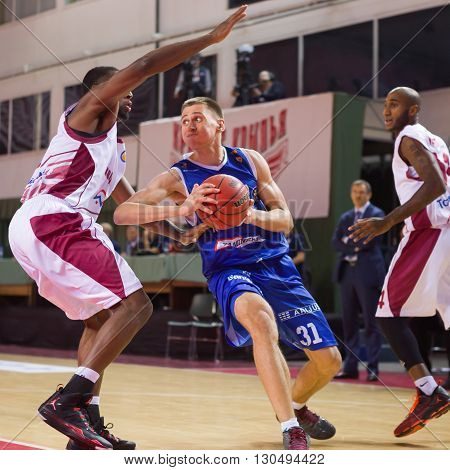 Bc Neptunas Forward Edgaras Ulanovas (31) With Ball