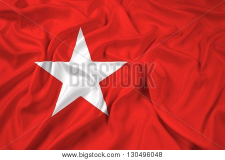 Waving Flag of Maastricht, with beautiful satin background