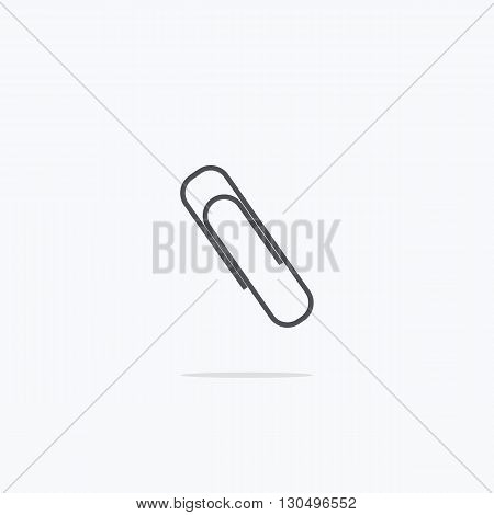 Clip. paperclip icon. Vector illustration on a light background.