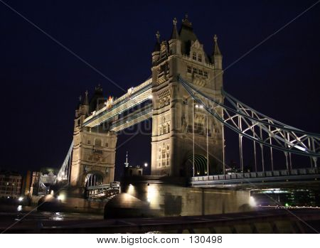 Night Photo Of Tower Bridge - London