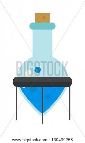Chemistry flask vector illustration.