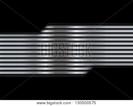 Black and silver metal backgrounds, abstract vector illustration