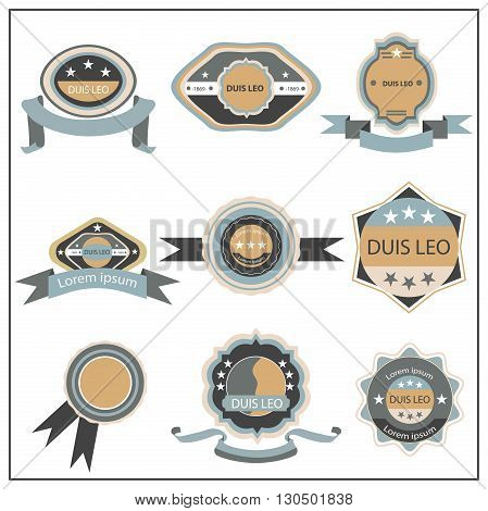 Set retro quality mark, emblem. Isolated labels and badges collection. Vector Illustration