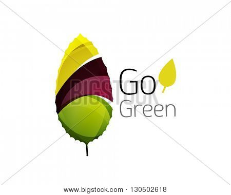 Go green logo. Green nature concept. Vector illustration