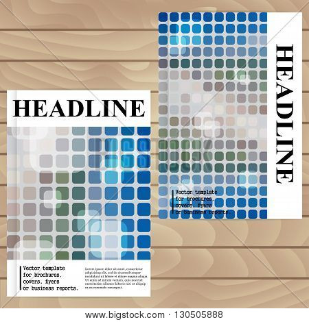 Vector Template For Brochures, Covers, Flyers Or Business Reports. Blurring Background. Mosaic.