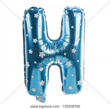 Balloon font with stars part of full set upper case letters, H