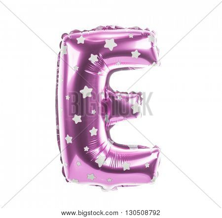 Balloon font with stars part of full set upper case letters,E