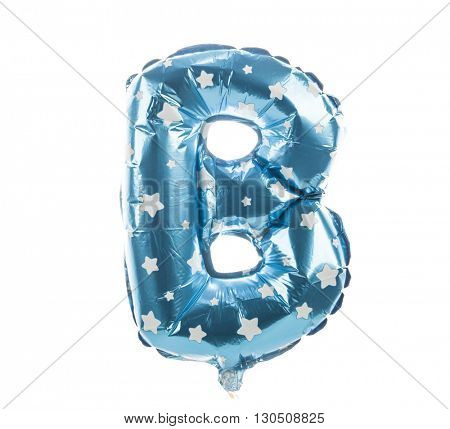 Balloon font with stars part of full set upper case letters,B