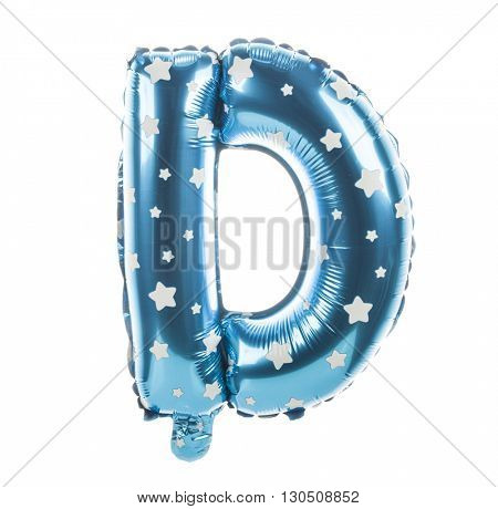 Balloon font with stars part of full set upper case letters,D