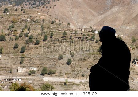 Silhouette Of Muslim Man
