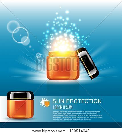 Sun protection for skin care with miracle light