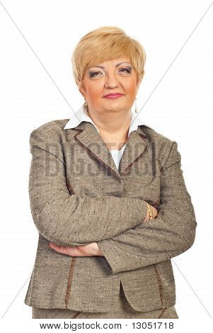 Mature Business Woman With Arms Folded