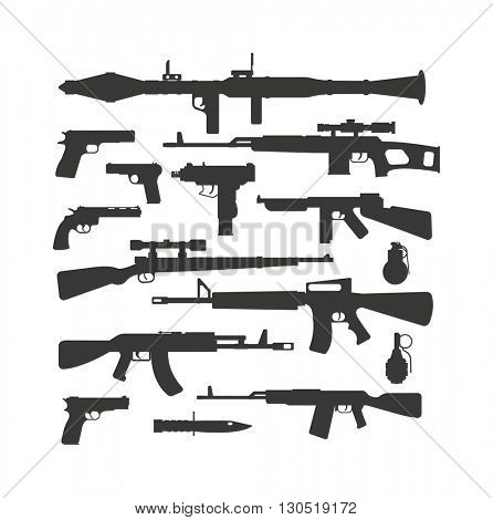 Weapon collection vector.