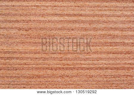 Texture of rich grain striped teak veneer