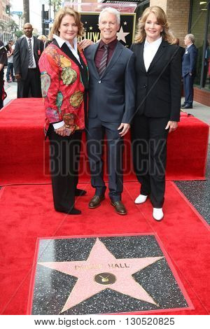 LOS ANGELES - MAY 19:  Andrea Hall Gengler, Greg Meng, Deidre Hall at the Deidre Hall Hollywood Walk of Fame Ceremony at Hollywood Blvd. on May 19, 2016 in Los Angeles, CA