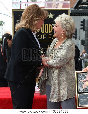 LOS ANGELES - MAY 19:  Deidre Hall, Susan Seaforth Hayes at the Deidre Hall Hollywood Walk of Fame Ceremony at Hollywood Blvd. on May 19, 2016 in Los Angeles, CA