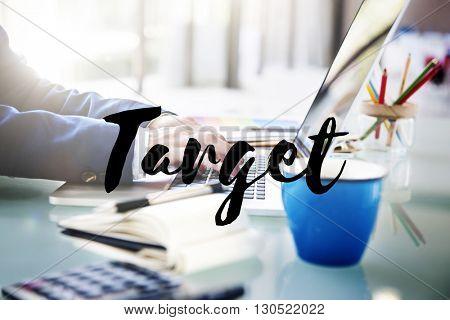 Target Advertising Goal Inspiration Marketing Concept