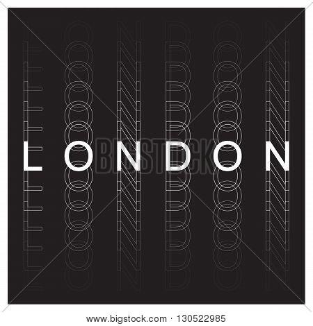 London poster design. London typography, t-shirt graphics. Vector illustration.